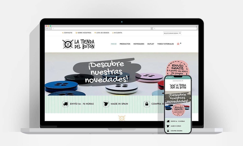 Diseño Web Pamplona - La Tienda Del Botón
