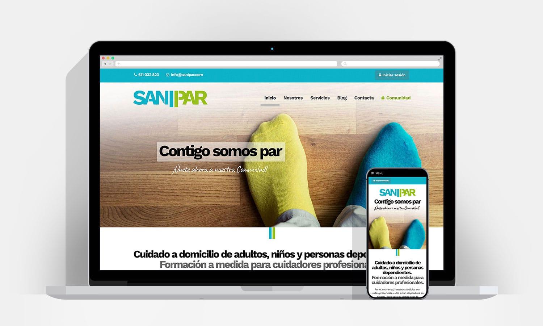 Diseño Web Pamplona - Sanipar